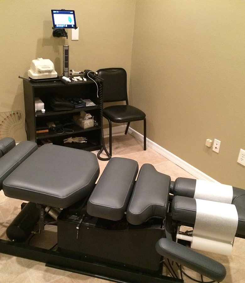Chiropractic in Trinity FL Adjustment Table